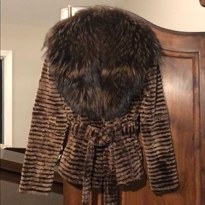 Like new! Chaarm New York Fur Jacket